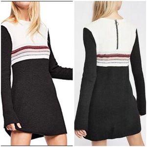 Free People NWOT Colorblock Sweater Dress Sz S